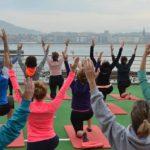 Yoga en la terraza del RCTSS