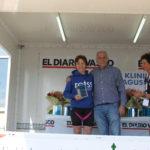 Maria Gorostidi – primer premio en la categoría de Veteranas en la DONOSTRIKU – Triatlon Sprint 2015