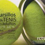 Cursillos de TENIS PARA ADULTOS 2015/16