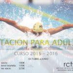 Cursos de natación para adultos (curso 2015-2016)