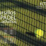 Cursillos  de  pádel  adultos  2015  –  2016