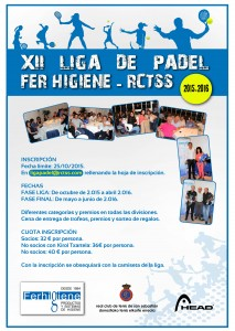 cartel liga padel rctss-fer higiene 2015-2016