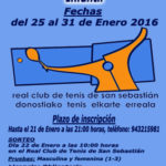 Campeonato  de  Gipuzkoa  Infantil  de  Tenis  2016