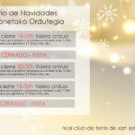 HORARIO NAVIDADES RCTSS