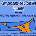 Campeonato de Gipuzkoa Infantil de Tenis 2017