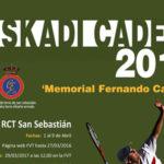 "Cto Euskadi de Tenis Cadete ""Memorial Fernando Caldera"""