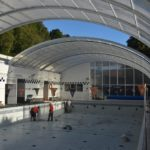 Obras en la piscina