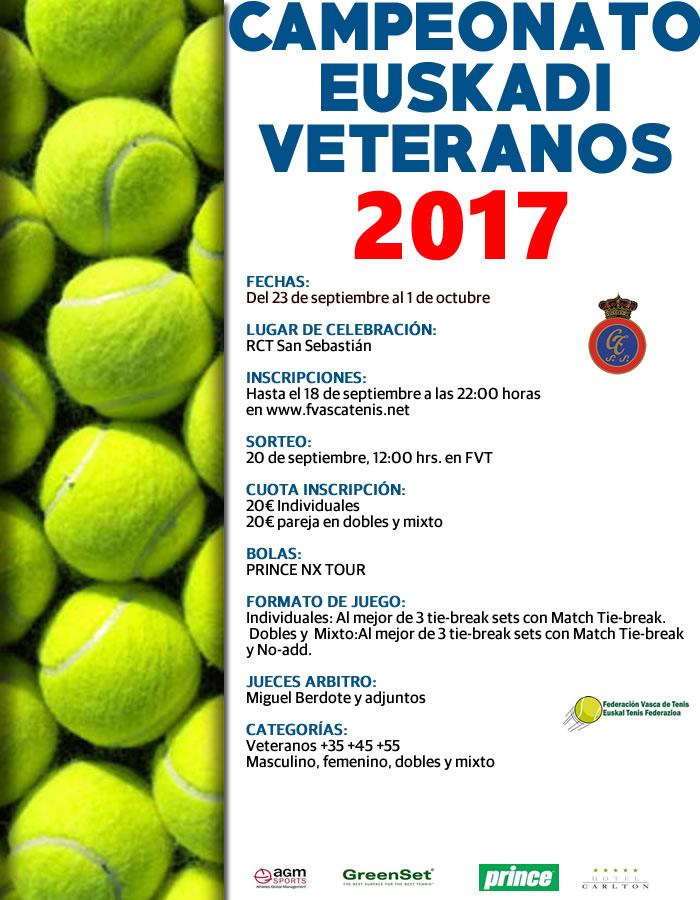 Campeonato de Euskadi de  veteranos: cuadro + orden de juego