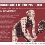 Suspendido el 1er torneo de la escuela de tenis 2017 – 2018 debido al mal tiempo