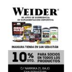 Descuento para socios en Weider San Sebastián