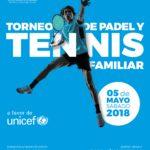 Cuadros y horarios torneo Unicef de tenis y pádel 5.5.2018
