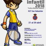 Trofeo  Manuel  Alonso  de  tenis  infantil  –  Euskadi  2018