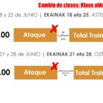 ALGUNOS CAMBIOS EN EL HORARIO DE ACTIVIDADES (JUNIO)