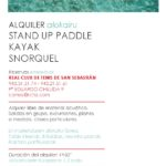 Abierta la temporada de alquiler de SUP – KAYAK – SURF – SNORKEL