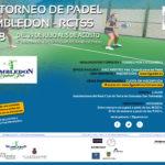XX torneo de pádel Wimbledon – RCTSS
