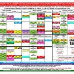 Nuevo horario de actividades del 10 al 30 de Septiembre