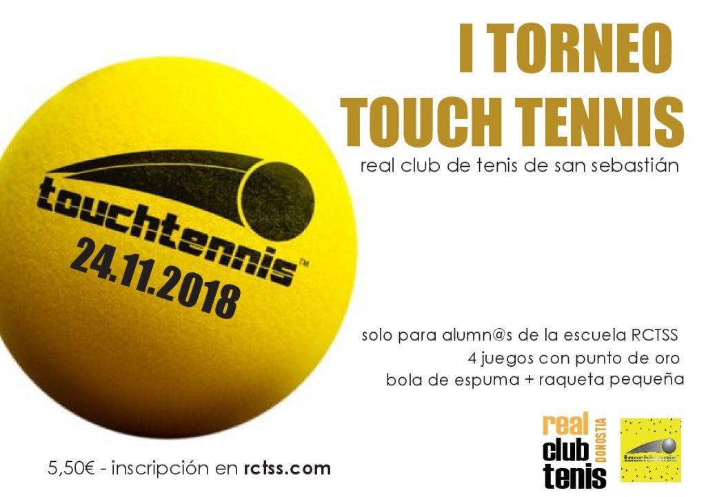 Abierto plazo inscripción I Torneo Touch Tennis!!