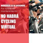 Miércoles 26 NO HAY CYCLING VIRTUAL