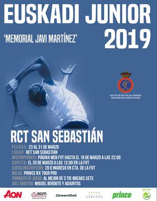 """Campeonato de Euskadi Junior de Tenis 2019 Memorial """"Javi Martinez"""""""