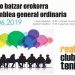 ASAMBLEA GENERAL ORDINARIA 2019