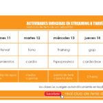 HORARIO DE ACTIVIDADES DIRIGIDAS A TRAVÉS DE YOUTUBE – 11 al 15 DE MAYO