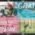 MATRÍCULA Y DICIEMBRE GRATIS EN EL BLACK FRIDAY