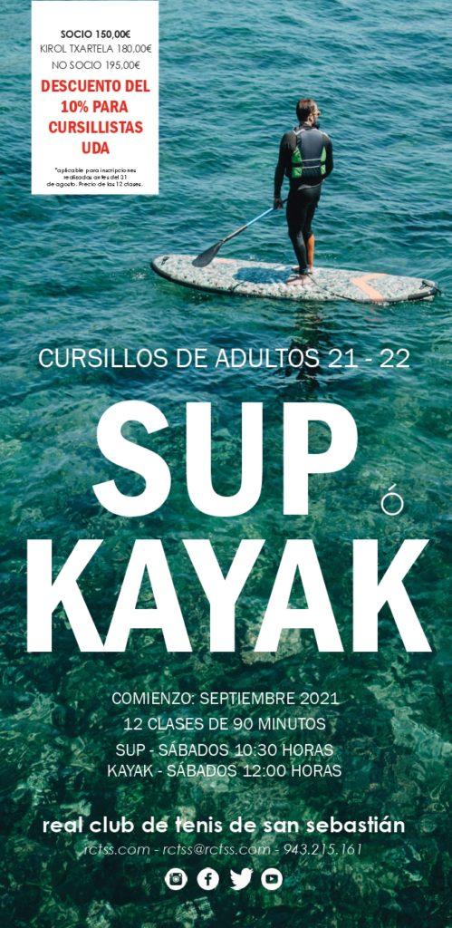KAYAK / SUP ADULTOS 2021 – 2022