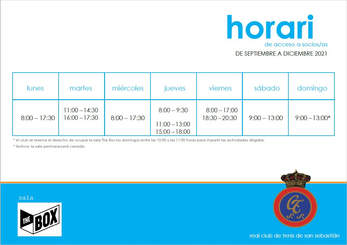 Horario The Box